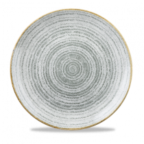 Churchill Studio Prints Homespun Coupe Plate Stone Grey 28.8cm