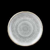 Churchill Studio Prints Homespun Coupe Plate Stone Grey 16.5cm