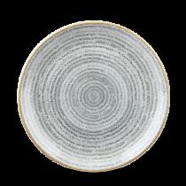 Churchill Studio Prints Homespun Coupe Plate Stone Grey 21.7cm
