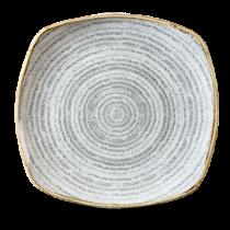 Churchill Studio Prints Homespun Square Plate Stone Grey 25.2cm