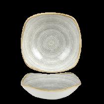Churchill Studio Prints Homespun Square Bowl Stone Grey 17.5cm