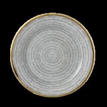 Churchill Studio Prints Homespun Rimmed Plate Stone Grey 21cm