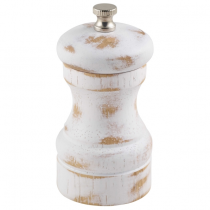 White Wash Salt or Pepper Grinder 10cm