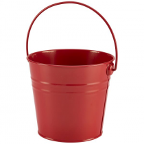 Stainless Steel Serving Bucket Red 16cm