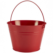 Stainless Steel Serving Bucket Red 25cm