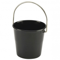 Stainless Steel Miniature Bucket Black 4.5cm