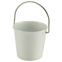 Stainless Steel Miniature Bucket White 4.5cm