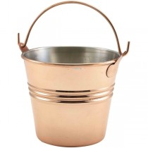 Copper Plated Serving Bucket 10 x 9cm