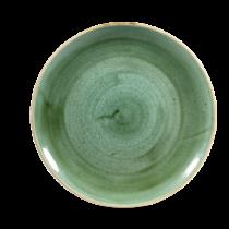 Churchill Stonecast Coupe Plate Samphire Green 28.8cm