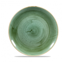 Churchill Stonecast Coupe Plate Samphire Green 26cm