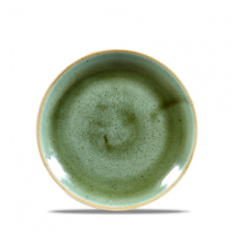 Churchill Stonecast Coupe Plate Samphire Green 16.5cm
