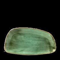 Churchill Stonecast Samphire Green Chefs Geo Plate 35 x 18.5cm