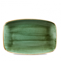 Churchill Stonecast Samphire Green Oblong Plate 30 x 19.9cm
