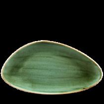 Churchill Stonecast Samphire Green Chefs' Triangle Plate 35.5 x 18.8cm