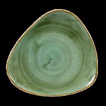 Churchill Stonecast Triangle Plate Samphire Green  26.5cm