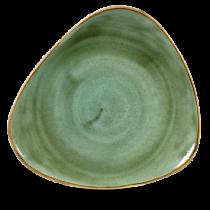 Churchill Stonecast Samphire Green Triangle Plate 31.1cm