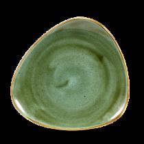 Churchill Stonecast Samphire Green Triangle Plate 19.2cm