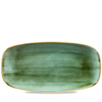 Churchill Stonecast Samphire Green Oblong Plate 29.8 x 15.3cm
