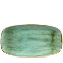 Churchill Stonecast Samphire Green Oblong Plate 35.5 x 18.9cm