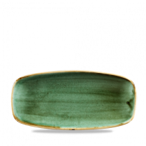 Churchill Stonecast Samphire Green Oblong Plate 26.9 x 12.7cm