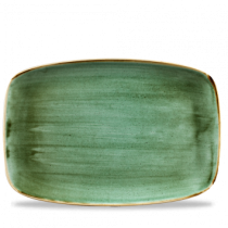 Churchill Stonecast Samphire Green Oblong Plate 35.5 x 24.5cm