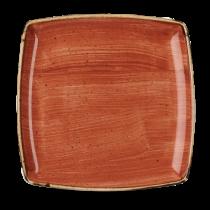 Churchill Stonecast Spiced Orange Deep Square Plate 26.8cm