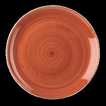 Churchill Stonecast Spiced Orange Coupe Plate 28.8cm