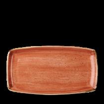 Churchill Stonecast Spiced Orange Oblong Plate 29.5 x 15cm