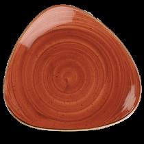 Churchill Stonecast Spiced Orange Triangle Plate 26.5cm