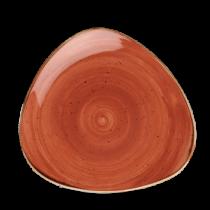Churchill Stonecast Spiced Orange Triangle Plate 22.9cm