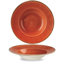 Churchill Stonecast Spiced Orange Wide Rim Bowl 28cm