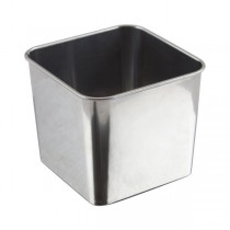 Stainless Steel Square Serving Tub 8 x 8 x 6cm