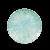 Churchill Studio Print Stone Coupe Plate Aquamarine 16.5cm