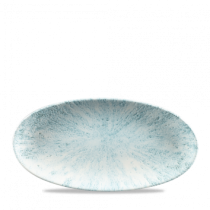 Churchill Studio Prints Stone Aquamarine Chefs' Oval Plate 29.9 x 15cm