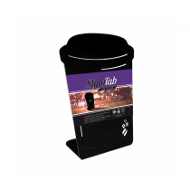 Coffee Cup Angled Portrait Tabletop Counter Top Message Board