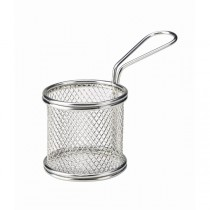 Stainless Steel Round Serving Fry Basket 8 x 7.5cm