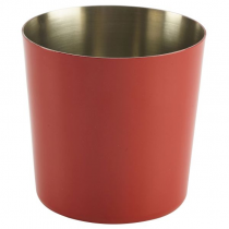 Stainless Steel Serving Cup Red 8.5cm