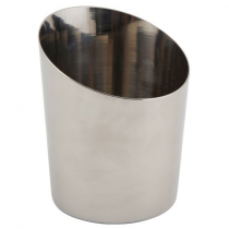 Angled Stainless Steel Serving Cup 9.5cm
