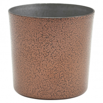 Hammered Copper Effect Stainless Steel Serving Cup 8.5cm