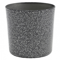 Hammered Silver Effect Stainless Steel Serving Cup 8.5cm