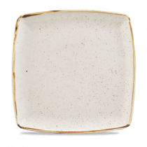 Churchill Stonecast Barley White Deep Square Plate 26.8cm