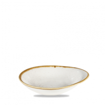 Churchill Stonecast Round Dish Medium Barley White 18.5 x 16.8cm