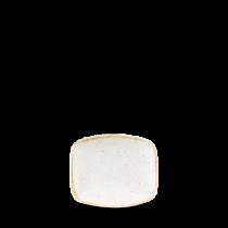 Churchill Stonecast Barley White Chefs Oblong Plate 15.4 x 12.6cm