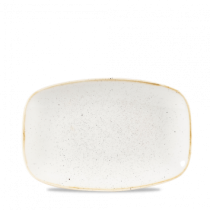 Churchill Stonecast Barley White Chefs Oblong Plate 23.7 x 15.7cm