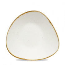 Churchill Stonecast Triangle Shallow Bowl Barley White 27.2 x 26.7cm