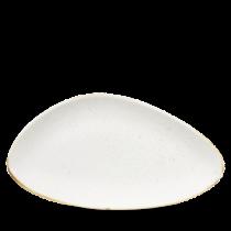 Churchill Stonecast Barley White Chefs Triangle Plate 35.5 x 18.8cm