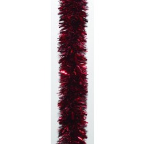 Red Tinsel Garland 6m
