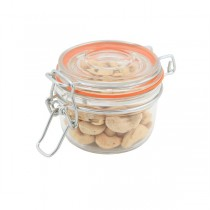 Genware Glass Terrine Jar with Airtight Lid 170ml 8.1 x 6.5cm (125ml)