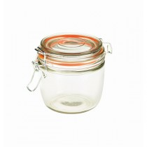 Genware Glass Terrine Jar with Airtight Lid 300ml