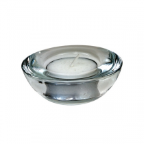 Glass Tea Light Candle Holder 2.5 x 7.5cm